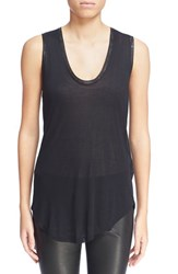 Women's Zadig And Voltaire 'Tam' Scooped Neck Tank Black