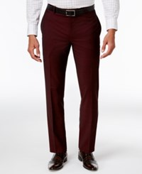 Inc International Concepts Men's Slim Fit Burgundy Pants Only At Macy's