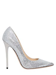 Jimmy Choo 120Mm Anouk Glitter And Net Lace Pumps