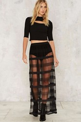 Stripe Place Stripe Time Maxi Skirt Black