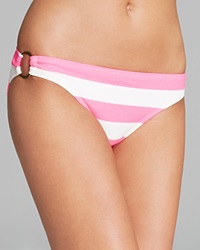 Juicy Couture Sixties Stripe Classic Bikini Bottom Shell Shock