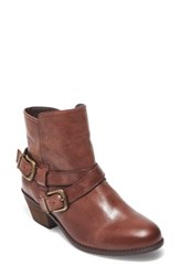 Me Too Women's Zuri Buckle Boot Chocolate Leather
