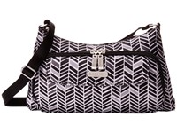 Baggallini Everyday Bagg Black White Chevrom Cross Body Handbags