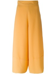 See By Chloe Cropped Palazzo Pants Yellow Orange
