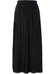 Kenzo Pleated Midi Skirt Black