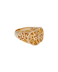 Carrera Y Carrera 18K Yellow Gold Actea Cocktail Ring 6.75