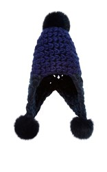 Mischa Lampert Triple Trouble Ear Flap Beanie Blue
