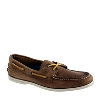 Men's Sperry Top Sider For J.Crew Authentic Original 2 Eye Broken In Boat Shoes Dark Wood