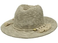 Vince Camuto Tasseled Packable Panama Hat Ivory Traditional Hats White