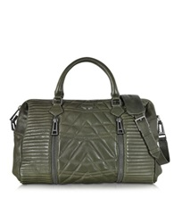 Zadig And Voltaire Sunny Khaki Matelasse Leather Satchel W Shoulder Strap