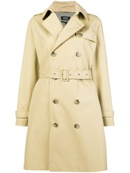 A.P.C. Double Breasted Trench Coat Nude And Neutrals