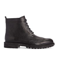 Polo Ralph Lauren Black Nickson Commando Sole Longwing Leather Boots