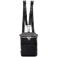Mcq By Alexander Mcqueen Black Mini Loveless Convertible Backpack