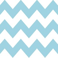 Wallcandy Chevron Aqua White Removable Wallpaper