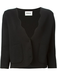 Issa Wave Edge Knitted Jacket Black
