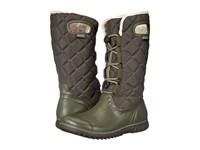 Bogs Juno Lace Tall Dark Green Women's Cold Weather Boots