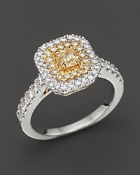 Bloomingdale's Yellow And White Diamond Ring In 18K Yellow And White Gold 1.0 Ct. T.W. Multi