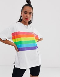Converse Pride White And Rainbow T Shirt