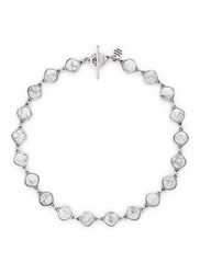 Philippe Audibert 'Hopis' Stone Necklace White Metallic