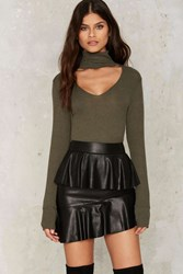 Nasty Gal Collection Juno Vegan Leather Mini Skirt Black