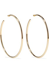 Jennifer Fisher Lilly Gold Plated Hoop Earrings One Size