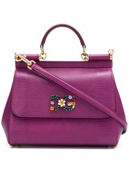 Dolce And Gabbana Small Sicily Bag Pink And Purple
