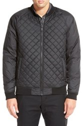 Calibrate Quilted Zip Front Bomber Black