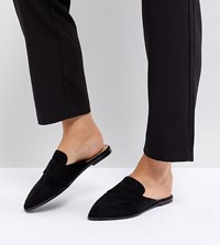 Asos Mouse Wide Fit Pointed Mules Black