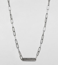 Designb Id Chain Necklace In Sterling Silver Exclusive To Asos