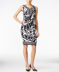 Jm Collection Zebra Print Sheath Dress Only At Macy's Zebra Black