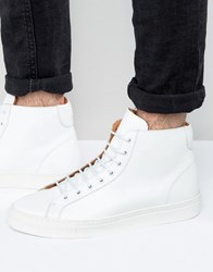 Frank Wright Logan Hi Top Trainers In White White
