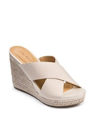 Me Too Athena Platform Wedge Sandals White