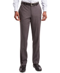 Kenneth Cole Reaction Flat Front Dress Pants Heather Grey