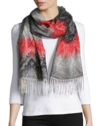 Lord And Taylor Ombre Paisley Scarf Black