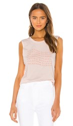 Amuse Society Vacay Always Muscle Tee In Pink. Dawn