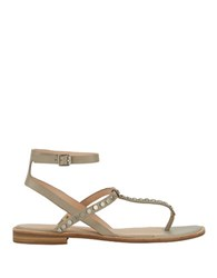 G.H. Bass Michelle Leather Sandals Grey