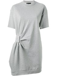 Marc By Marc Jacobs Gathered Detail Sweatshirt Dress Grey