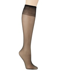 Hanes Silk Reflections Silky Sheer Knee Highs Jet