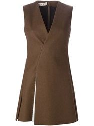 Marni Double Breasted Waistcoat Brown