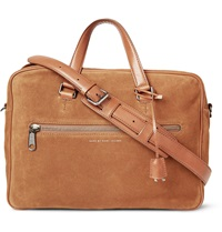 Marc By Marc Jacobs Johnny Suede Briefcase Brown