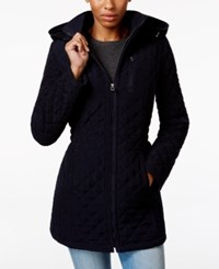 Laundry By Design Hooded Quilted Jacket Navy