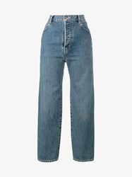 Vetements X Levis High Waisted Jeans Blue