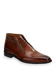 Kenneth Cole Noble Ombre Chukka Shoes Cognac
