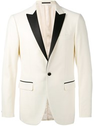 Pal Zileri Tuxedo Blazer Men Cupro Wool 52 White