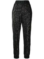No Ka' Oi Sequin Track Trousers Black