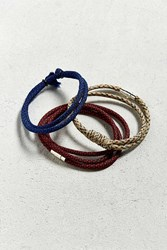 Urban Outfitters Uo Paracord Bracelet 3 Pack Neutral Multi