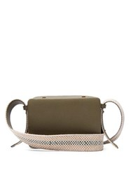 Lutz Morris Maya Grained Leather Cross Body Bag Khaki Multi