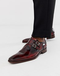Jeffery West Scarface Monk Shoes In Red High Shine