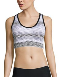 Marc New York Space Dyed Sports Bra White Black