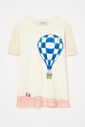 Lanvin Paneled Printed Cotton Jersey T Shirt White